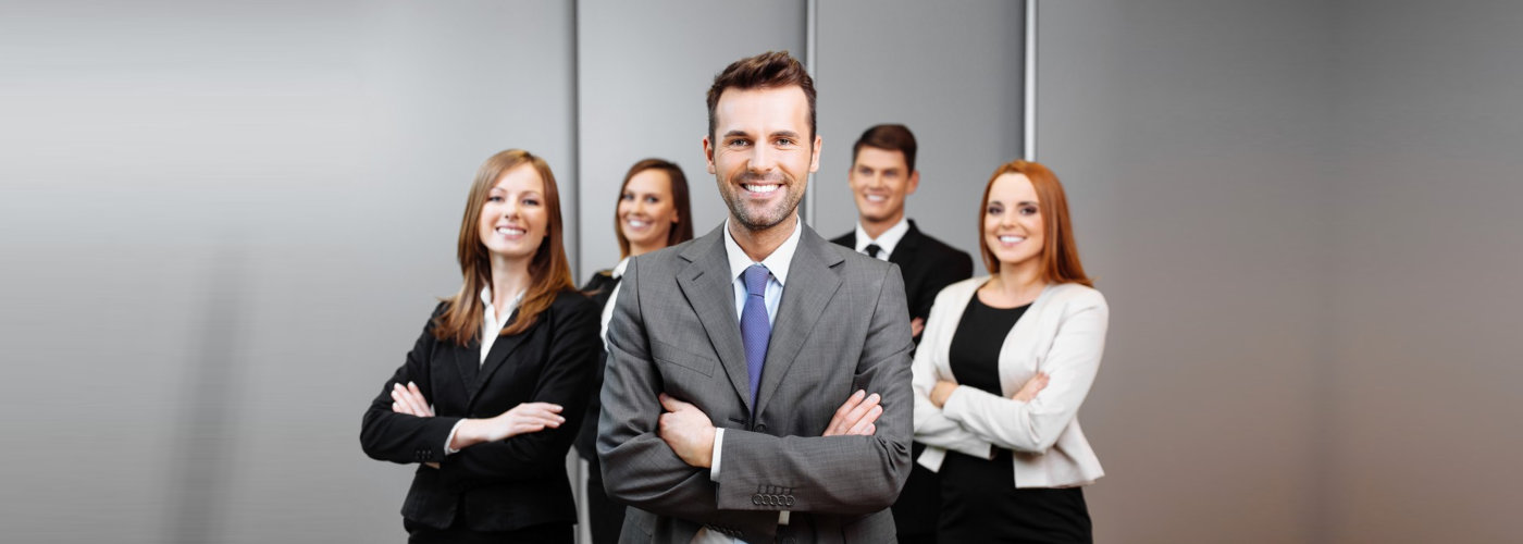 business professionals smiling